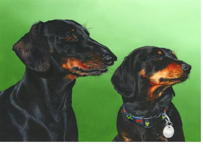 PaintingDachshunds